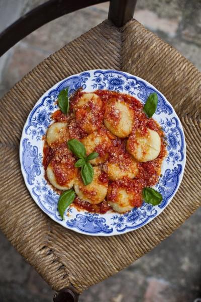 Stuffed Gnocchi in a tomato sauce