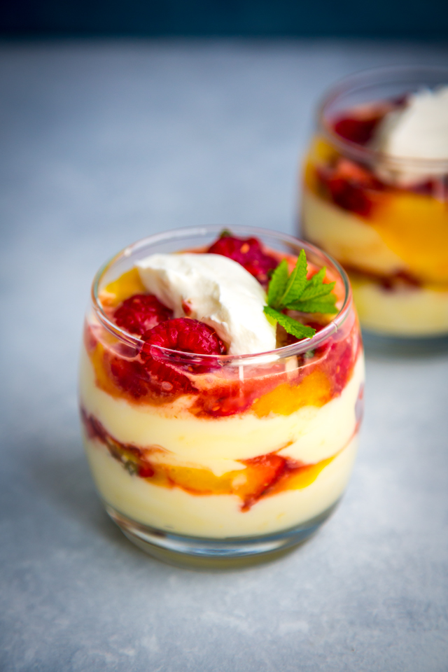 Lemon Fool with Strawberry Salsa | DonalSkehan.com, Lemon curd and fresh fruit heavenly layered together.