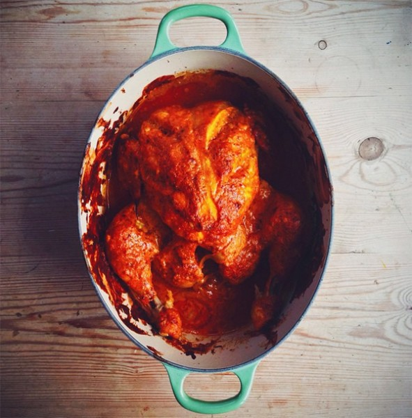 Indian Spiced Chicken Pot