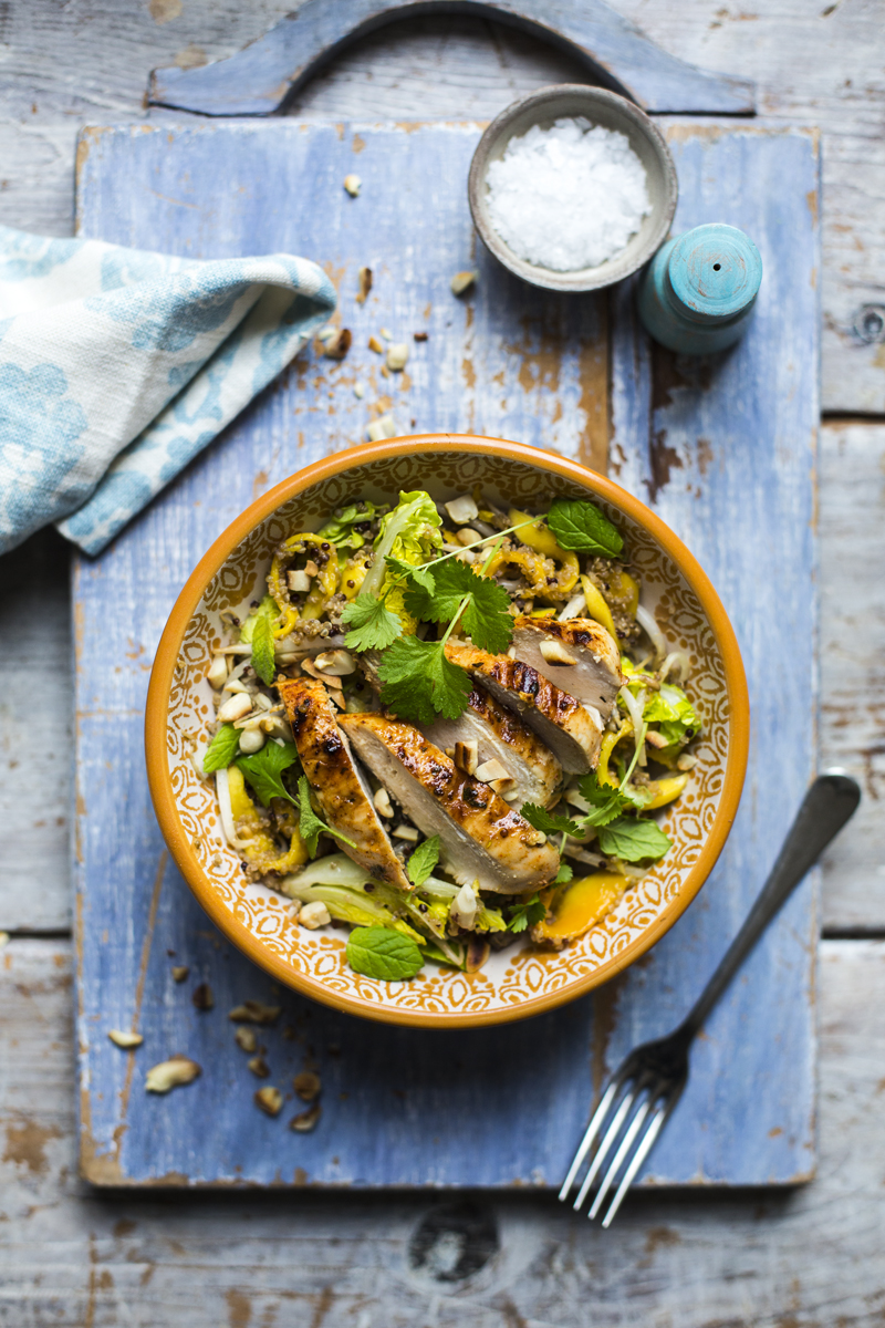 Tequila Chicken Salad | DonalSkehan.com, A chicken salad recipe with a naughty secret!