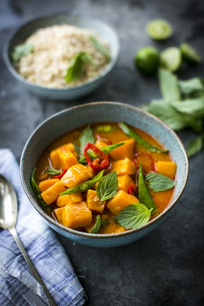 Thai Sweet Potato Stew with Lemongrass & Ginger Brown Rice