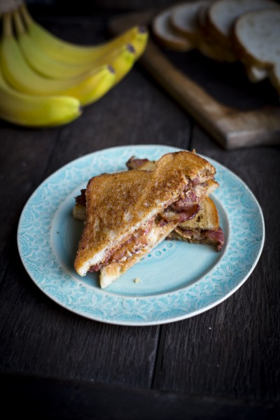 The Elvis: Peanut Butter, Banana & Bacon Sandwich