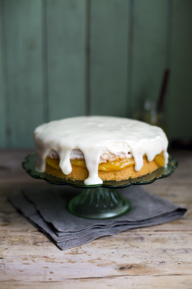 Lemon Marshmallow Cake