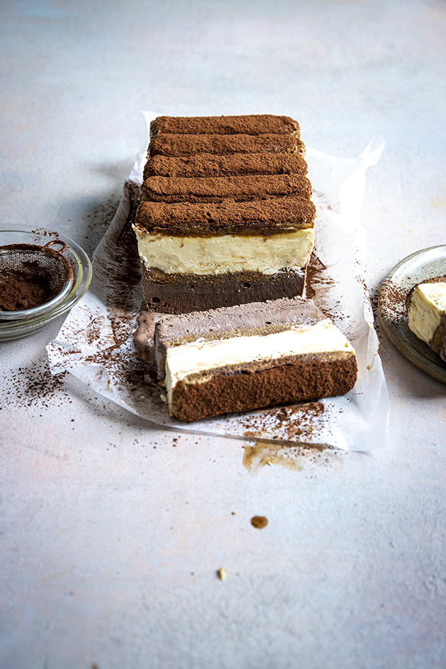 Triple Chocolate Tiramisu Ice Cream Cake | DonalSkehan.com
