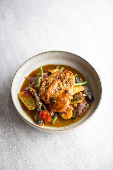 Tomato & Vegetable Braised Chicken | DonalSkehan.com