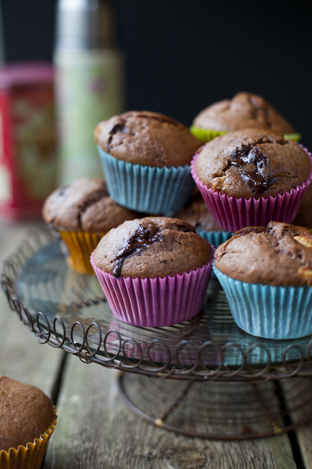 Triple Chocolate Muffins | DonalSkehan.com, Great to make with kids but adults will love these too!