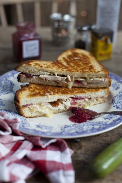 Mega Turkey and Brie, Cranberry Chutney, Grilled Sambos