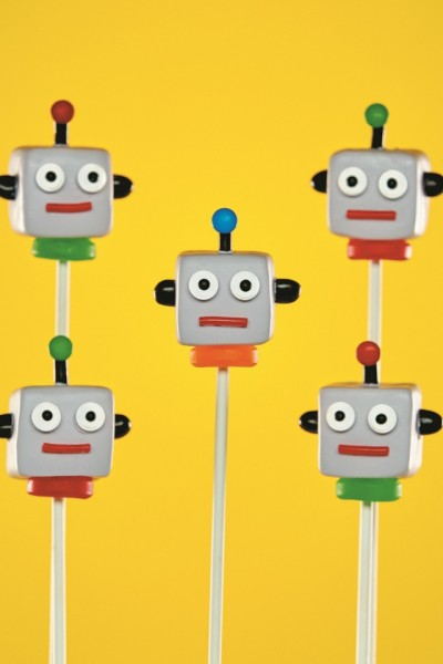 Robot Brownie Pops