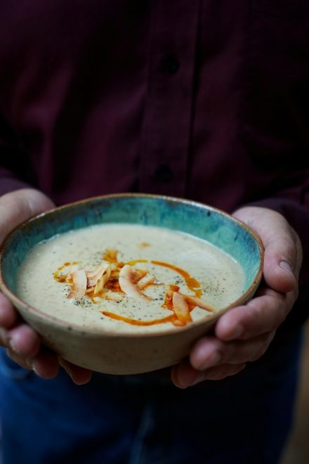 Roasted Cauliflower and Coconut Soup | DonalSkehan.com, Delicious simplicity from Stirring Slowly by Georgina Hayden,