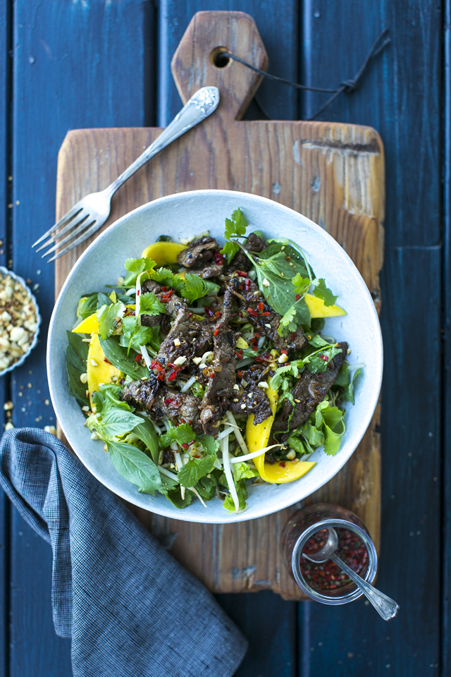 Vietnamese Beef & Mango Salad | DonalSkehan.com, A fresh & vibrant beef salad perfect for summer.