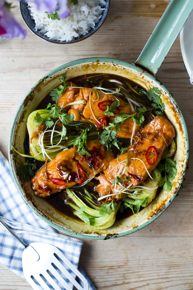 Vietnamese Caramel Salmon | DonalSkehan.com, A delicate, sweet and sticky dish!