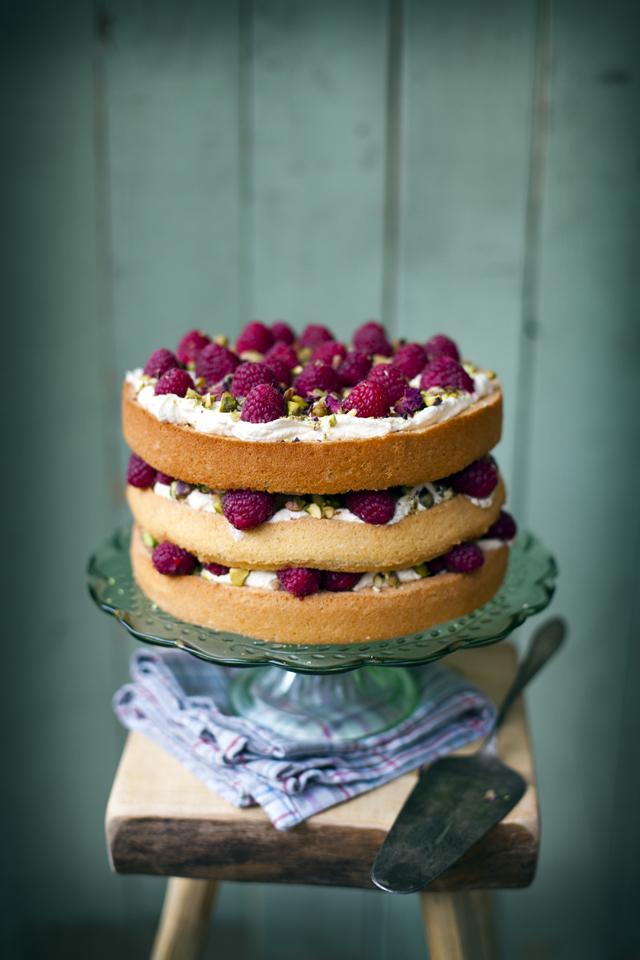 White Chocolate Raspberry And Pistachio Cheesecake