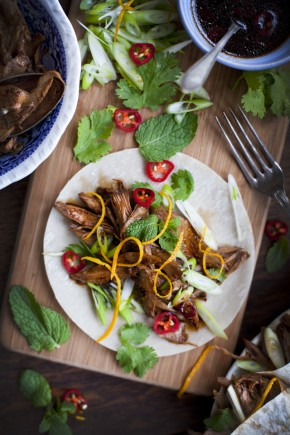 Orange and mint crispy duck rolls | DonalSkehan.com, Delicious starter for a dinner party.