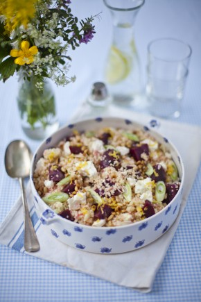 Zingy Beetroot, Feta Cheese, Cous cous Salad