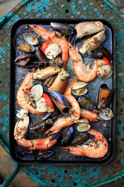 Oven Baked Shellfish Tray