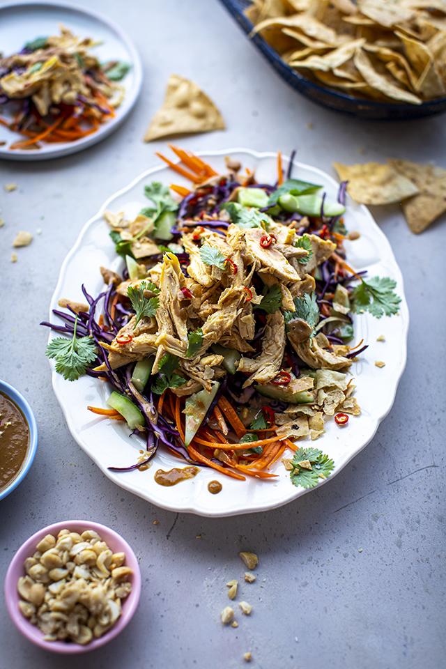 Crunchy Bang Bang Chicken Salad | DonalSkehan.com