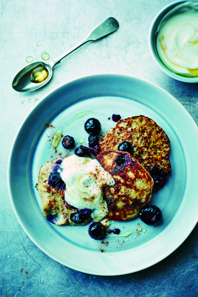Tom's Blueberry, Banana & Seed Pancakes | DonalSkehan.com, Olympian Tom Daley's take on the perfect Blueberry & Banana Pancakes.