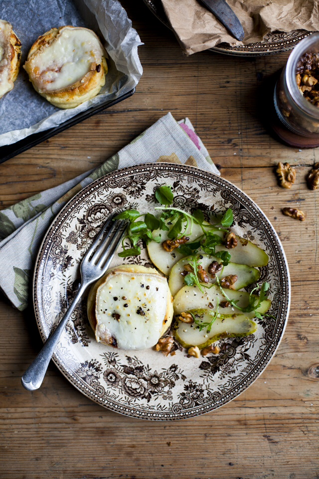 Knockdrinna Farmhouse Cheese Souffles with Pear & Walnut Salad | DonalSkehan.com, Perfect autumn starter.