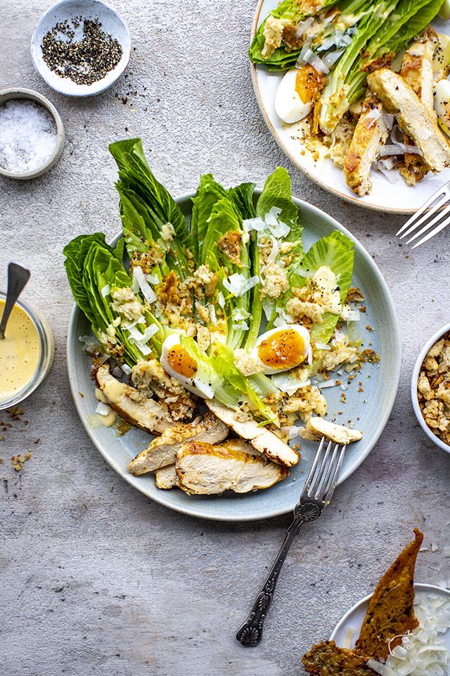 Classic Chicken Caesar Salad | DonalSkehan.com