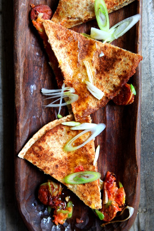 Chorizo and Spring Onion Quesadillas | DonalSkehan.com, Perfect summer lunch or weekend snack!