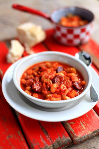 Tomato, Chorizo & Chickpea Soup