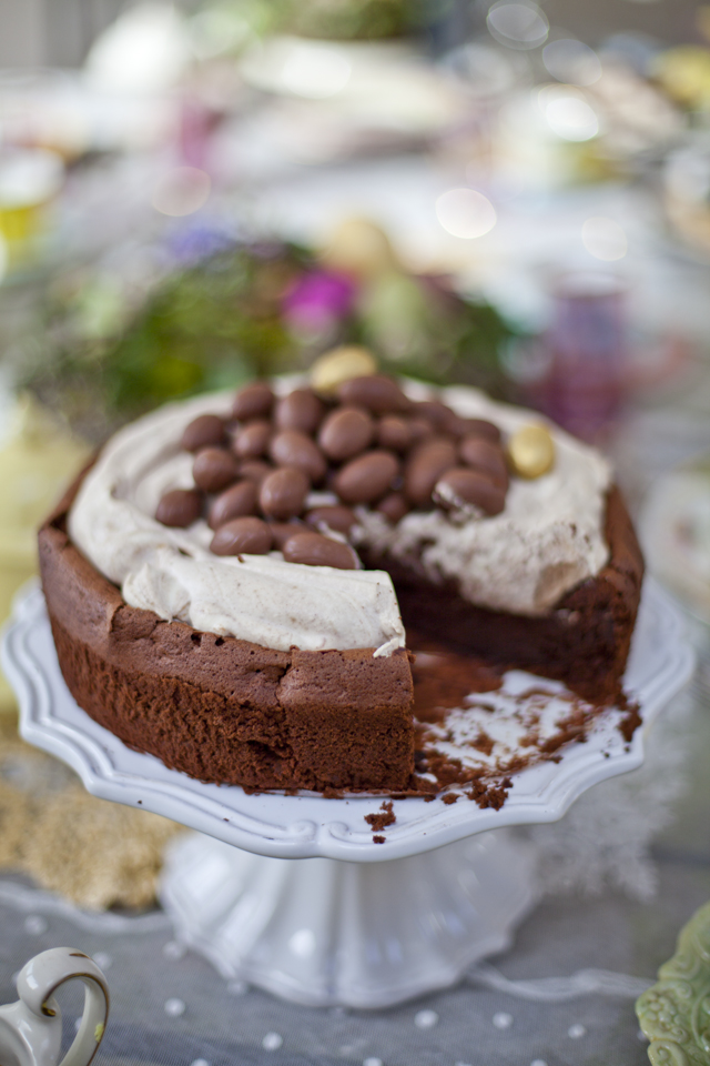 Mocha Chocolate Crater Cake | DonalSkehan.com, Super tasty dessert!