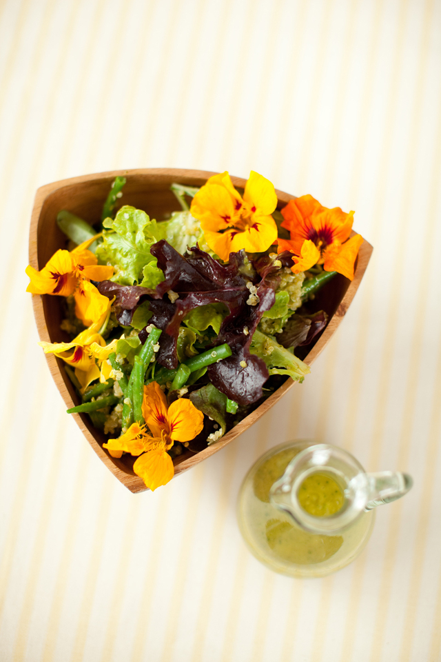 Quinoa and Green Salad with Mango Dressing | DonalSkehan.com, A fresh & vibrant quinoa summer salad.