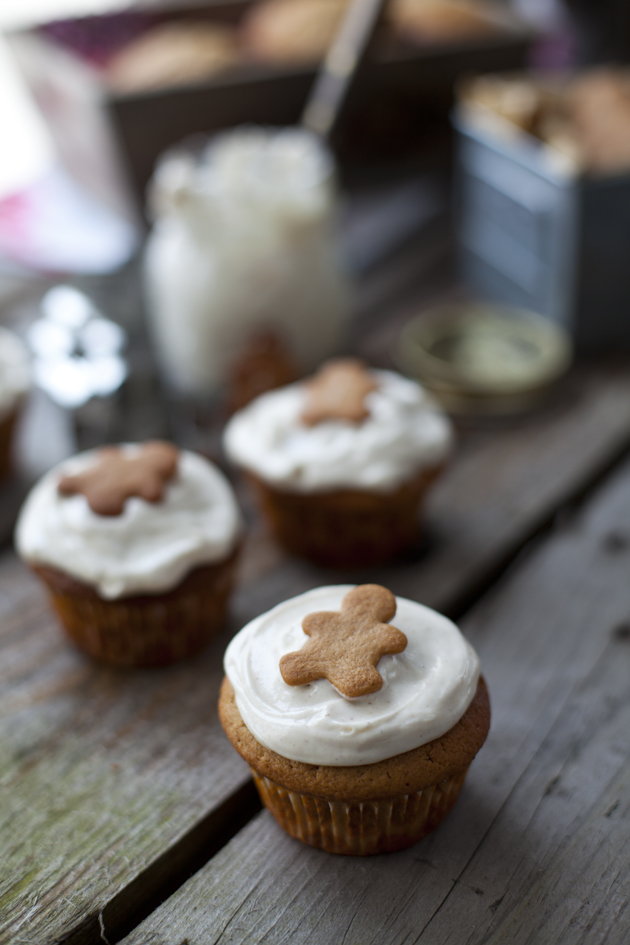 Gingerbread Muffins with Cinnamon Cream Cheese Frosting | DonalSkehan.com, Two treats in one...It is Christmas after all!