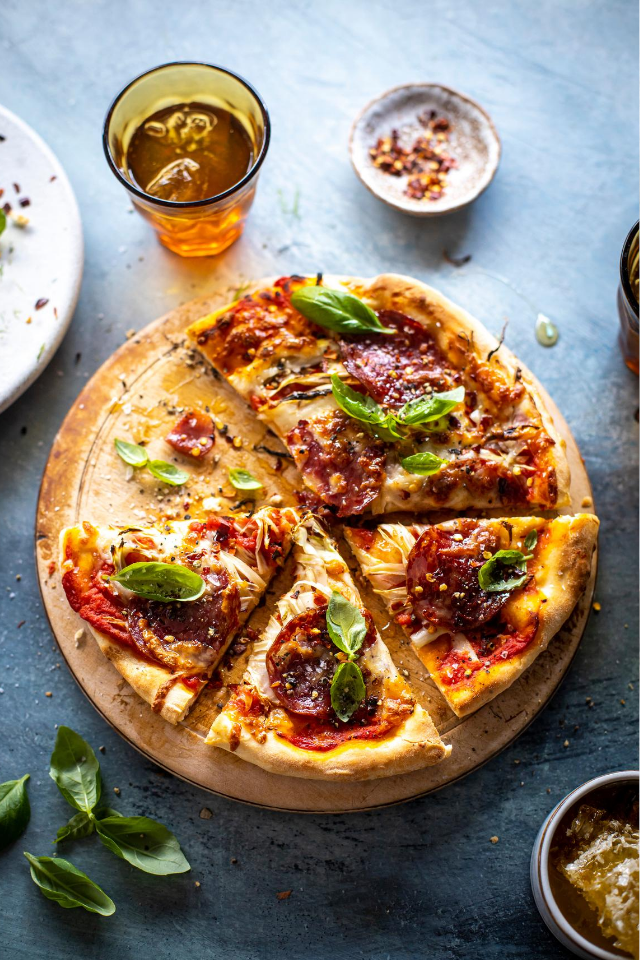 Honey, Fennel & Salami One Pan Pizza | DonalSkehan.com