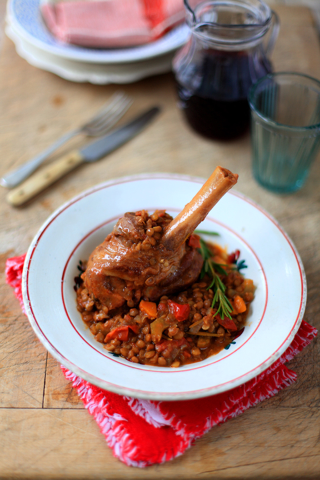 Lamb Shanks With Lentils | DonalSkehan.com, A nice alternative to traditional roast lamb.