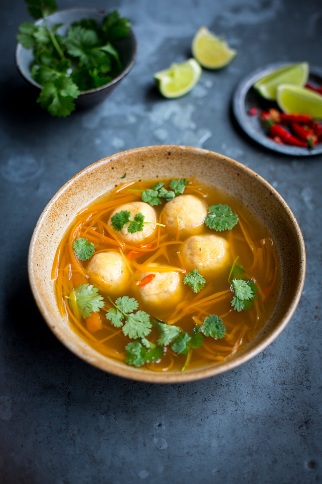 Thai Chicken Meatball Soup | DonalSkehan.com
