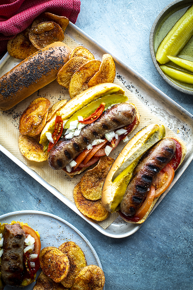 Chicago Style Hot Dog with Crispy Potato Chips   DonalSkehan.com