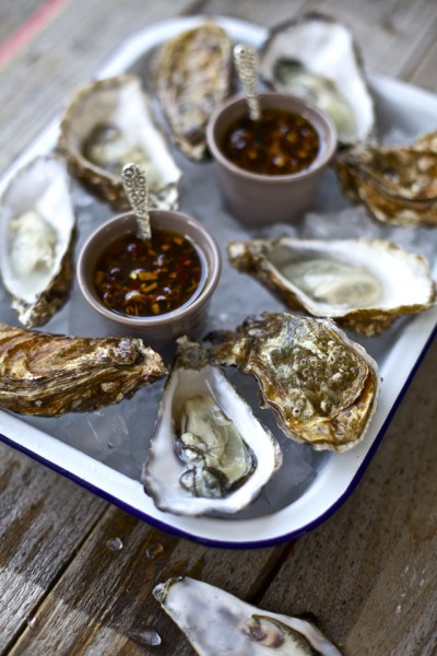 Oysters with Vietanamese Dressing