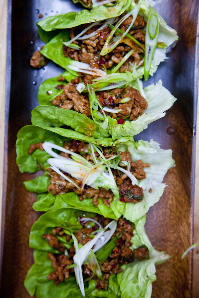 Asian Pork Lettuce Cups | DonalSkehan.com, Delicious starter or lunch!
