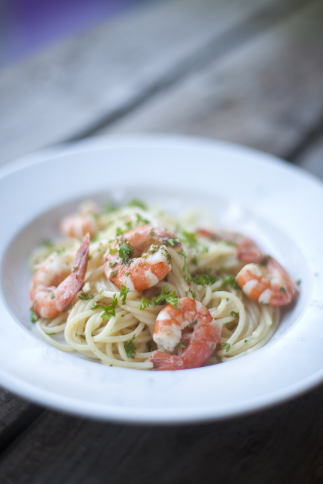 Simple Prawn and Garlic Pasta Supper | Donal Skehan | EAT LIVE GO