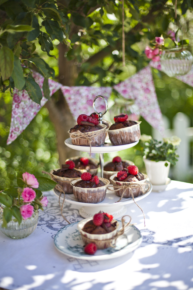 Raspberry and Dark Chocolate Muffins | DonalSkehan.com, A grown up version of a cupcake!