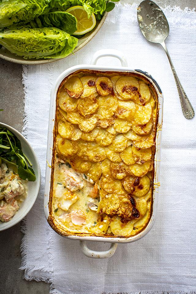 Smoked Fish, Cheese & Potato Bake | DonalSkehan.com