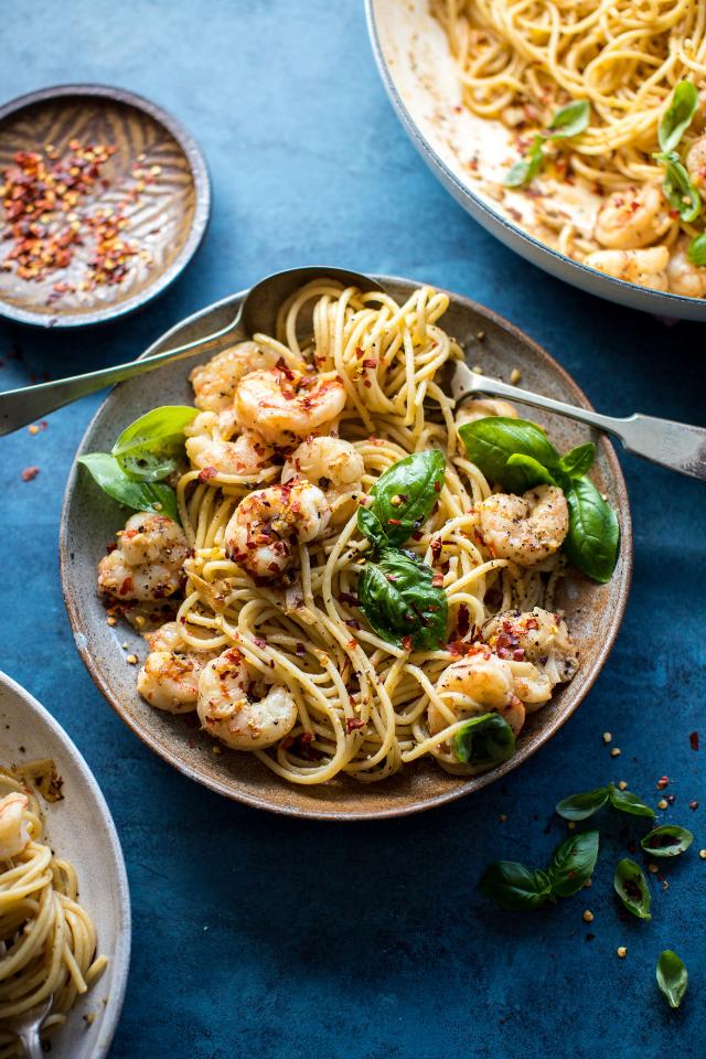 Spicy Shrimp Spaghetti | DonalSkehan.com