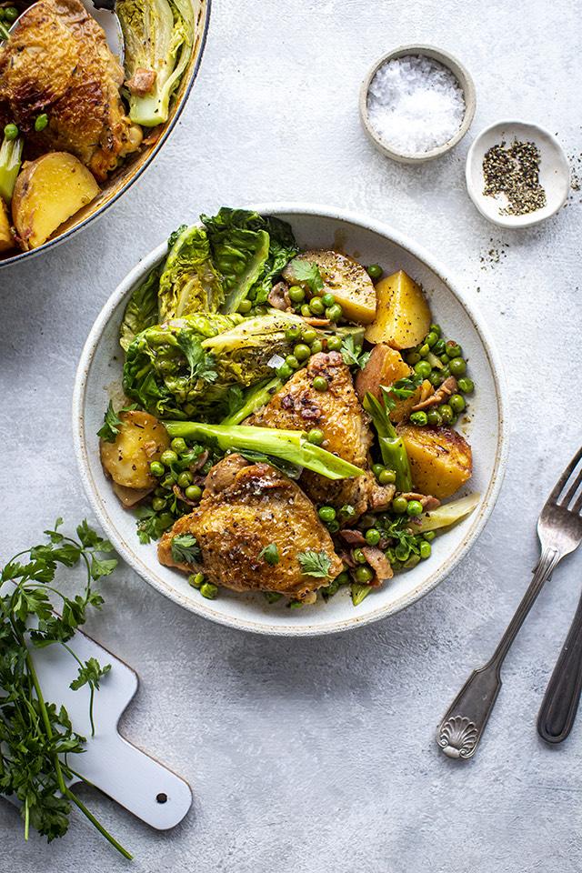 Braised Spring Chicken and Potato Casserole | DonalSkehan.com