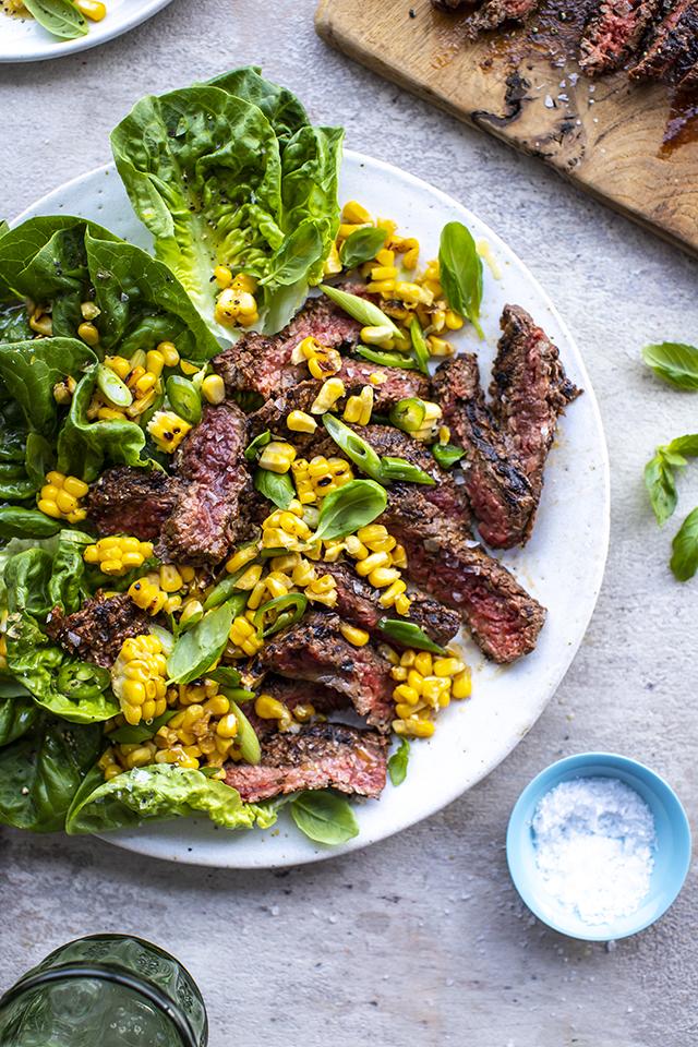 Steak Platter with Basil & Sweetcorn | DonalSkehan.com