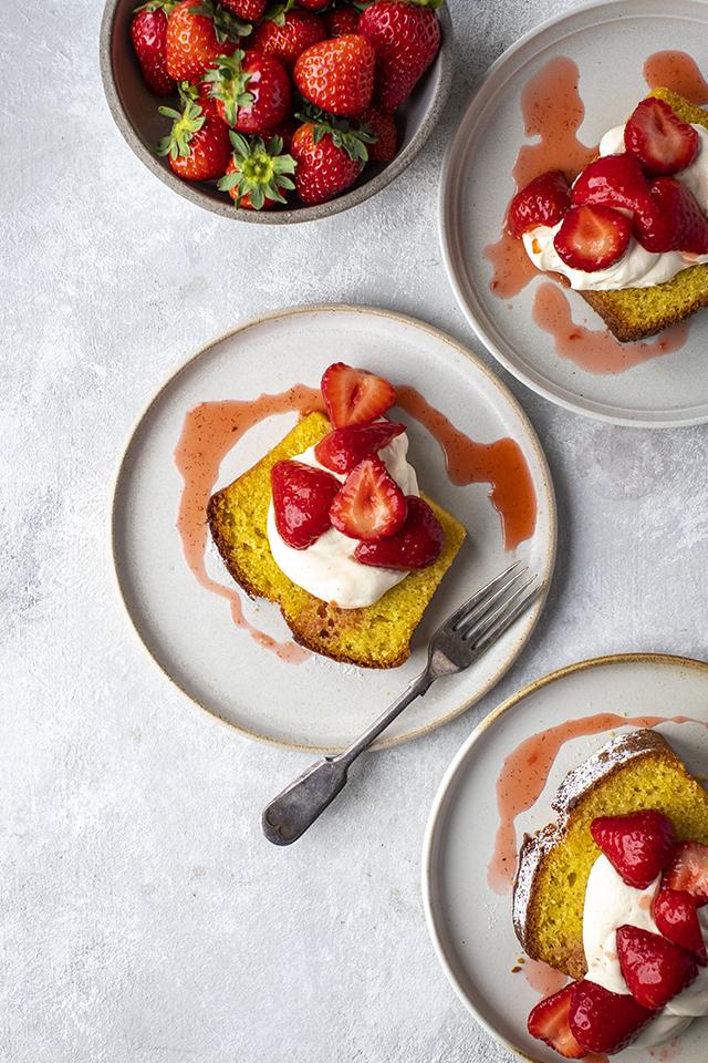Strawberry Pound Cake Slices   DonalSkehan.com